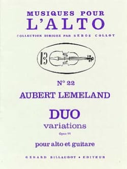 Aubert Lemeland - Duo Variations op. 77 - Partition - di-arezzo.fr