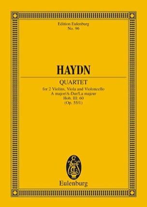 Joseph Haydn - Streich-Quartett A-Dur op. 55 n° 1 - Partition - di-arezzo.fr