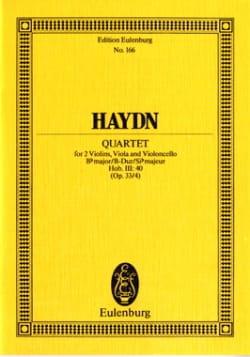 Joseph Haydn - Streich-Quartett B-Dur op. 33 n° 4 - Partition - di-arezzo.fr