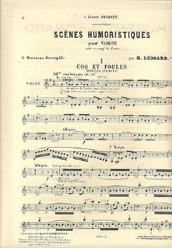 Hubert Léonard - Coq et poules : n° 1 des Scènes humoristiques op. 61 - Partition - di-arezzo.fr