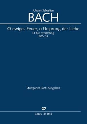 BACH - O ewiges Feuer, or Ursprung der Liebe - Sheet Music - di-arezzo.com