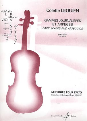 Colette Lequien - Daily scales and arpeggios - Sheet Music - di-arezzo.co.uk