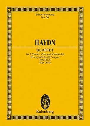 Streich-Quartett B-Dur op. 76 n° 4 - Joseph Haydn - laflutedepan.com