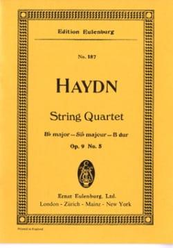 Joseph Haydn - Streich-Quartett B-Dur op. 9 n°5 - Partition - di-arezzo.fr