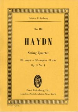 Streich-Quartett B-Dur op. 3 n° 4 - HAYDN - laflutedepan.com