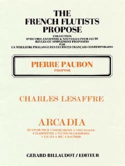 Arcadia - Charles Lesaffre - Partition - laflutedepan.com