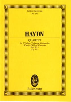 HAYDN - Streich-Quartett B-Dur op. 1 n ° 1 - Sheet Music - di-arezzo.co.uk