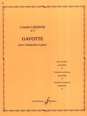Cornélis Liegeois - Gavotte op. 25 n ° 2 - Sheet Music - di-arezzo.co.uk