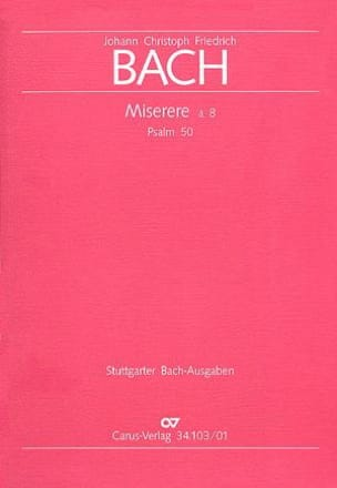 Johann Christoph Friedrich Bach - Miserere in c - Sheet Music - di-arezzo.com