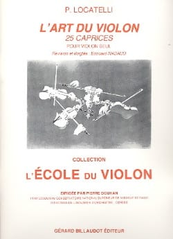 L'art du violon - 25 Caprices - LOCATELLI - laflutedepan.com