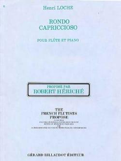 Rondo capriccioso Henri Loche Partition laflutedepan