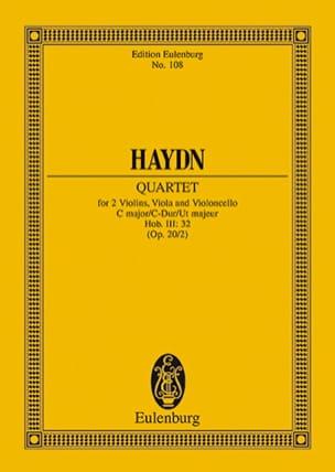 Streich-Quartett C-Dur op. 20 n° 2 HAYDN Partition laflutedepan