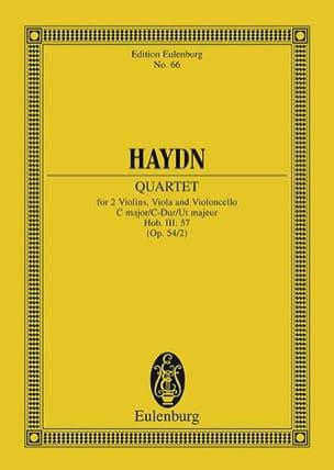 Joseph Haydn - Streich-Quartett C-Dur op. 54 n° 2 - Partition - di-arezzo.fr
