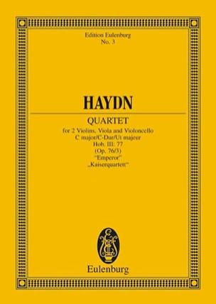 Streich-Quartett C-Dur op. 76 n° 3 HAYDN Partition laflutedepan