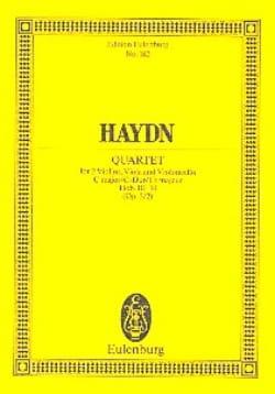 Joseph Haydn - Streich-Quartett C-Dur op. 3 n° 2 - Partition - di-arezzo.fr