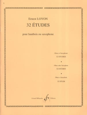 Ernest Loyon - 32 Studies - Sheet Music - di-arezzo.co.uk
