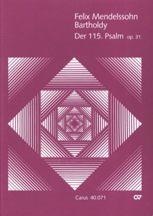 MENDELSSOHN - Psalm 115 op. 31 - Partition - di-arezzo.fr
