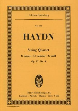 Joseph Haydn - Streich-Quartett C-Moll op. 17 n° 4 - Partition - di-arezzo.fr