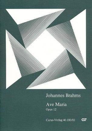 Ave Maria op. 12 - Conducteur - BRAHMS - Partition - laflutedepan.com