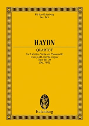 Streich-Quartett D-Dur op. 71 n° 2 - Joseph Haydn - laflutedepan.com