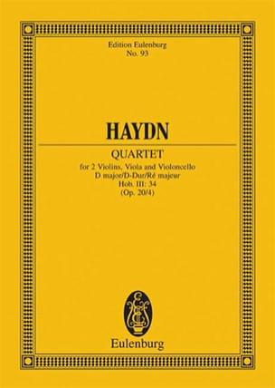 Joseph Haydn - Streich-Quartett D-Dur op. 20 n° 4 - Partition - di-arezzo.fr