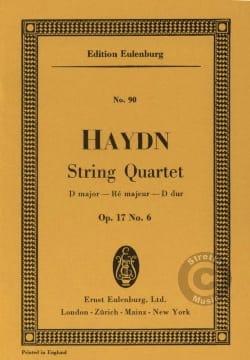 Joseph Haydn - Streich-Quartett D-Dur op. 17 n° 6 - Partition - di-arezzo.fr