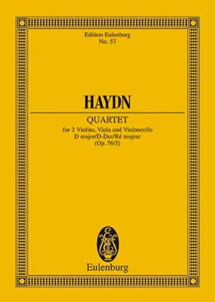 Streich-Quartett D-Dur op. 76 n° 5 HAYDN Partition laflutedepan