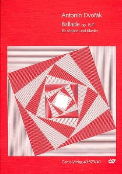 Ballade op. 15 n° 1 - Antonin Dvorak - Partition - laflutedepan.com