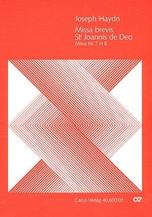 Missa brevis Sancti Joannis de Deo - Partitur - laflutedepan.com