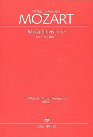 MOZART - Missa Brevis in D KV 194 - Sheet Music - di-arezzo.co.uk