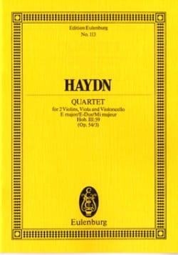 Streich-Quartett E-Dur op. 54 n° 3 - HAYDN - laflutedepan.com