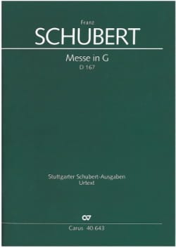 SCHUBERT - Messe In G-Dur D. 167 - Partition - di-arezzo.fr