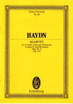 Joseph Haydn - Streich-Quartett E-Dur op. 3 n° 1 - Partition - di-arezzo.fr