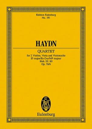 Joseph Haydn - Streich-Quartett Es-Dur op. 76 n° 6 - Partition - di-arezzo.fr