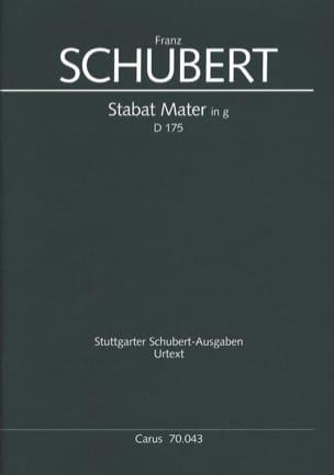 Franz Schubert - Stabat Mater In G-Moll D 175 - Partition - di-arezzo.fr