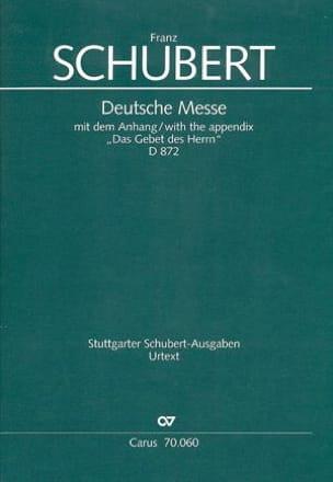 Deutsche Messe D 872 - SCHUBERT - Partition - laflutedepan.com