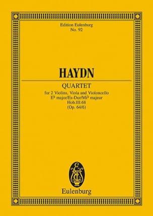 Joseph Haydn - Streich-Quartett Es-Dur op. 64 n° 6 - Partition - di-arezzo.fr