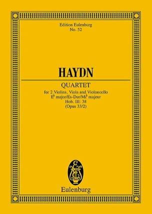 HAYDN - Streich-Quartett Es-Dur op. 33 n° 2 - Partition - di-arezzo.fr