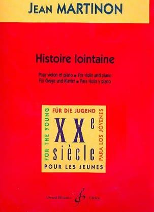 Histoire lointaine Jean Martinon Partition Violon - laflutedepan