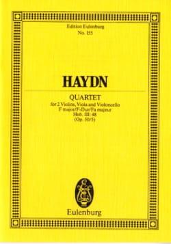 Streich-Quartett F-Dur op. 50 n° 5 HAYDN Partition laflutedepan