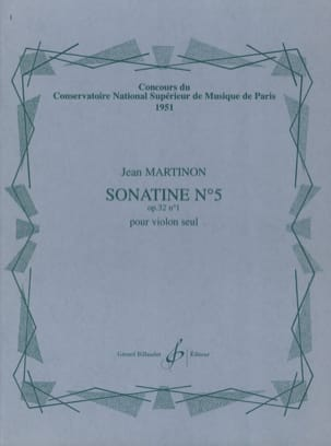 Jean Martinon - Sonatine N ° 5 Op. 32 N ° 1 - Sheet Music - di-arezzo.co.uk