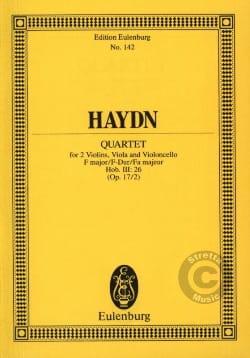 Joseph Haydn - Streich-Quartett F-Dur op. 17 n° 2 - Partition - di-arezzo.fr