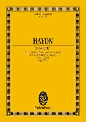 Joseph Haydn - Streich-Quartett F-Dur op. 77 n° 2 - Partition - di-arezzo.fr