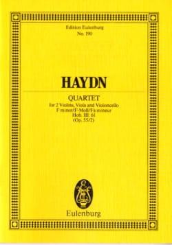 Joseph Haydn - Streich-Quartett f-moll op. 55 n° 2 - Partition - di-arezzo.fr