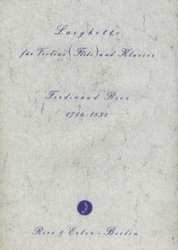 Ferdinand Ries - Larghetto - Sheet Music - di-arezzo.com