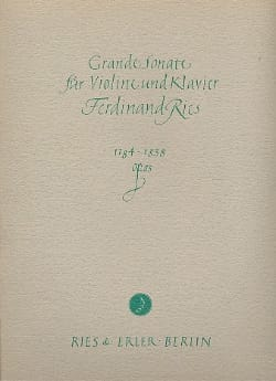 Grande sonate op. 83 - Ferdinand Ries - Partition - laflutedepan.com