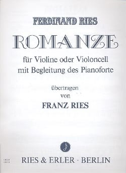 Romanze - Ferdinand Ries - Partition - Violon - laflutedepan.com
