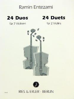 Ramin Entezami - 24 Duos - Partition - di-arezzo.fr