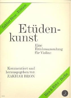 Etüdenkunst, Bd. 1 - Zakhar Bron - Partition - laflutedepan.com