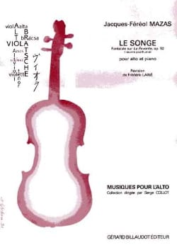 MAZAS - Le Songe op. 92 - Partition - di-arezzo.fr